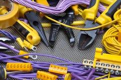 工具和组分电子设施的 图库摄影