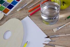 工具品种愿艺术家 免版税库存照片