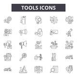 工具排行象,标志,传染媒介集合,概述例证概念 库存例证