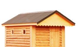 工具棚子、新的原木小屋对后院或公共事业存贮谷仓- r 免版税库存照片