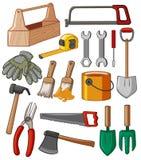 工具箱和许多工具 向量例证