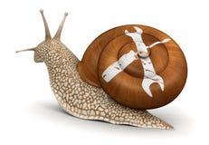 工具蜗牛(包括的裁减路线) 库存照片