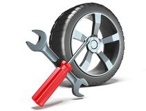 工具轮子 库存图片