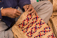 黄麻工匠在工作 图库摄影