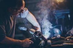 工匠焊接钢 库存图片