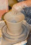 工匠陶瓷工 图库摄影