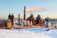 工厂一个博物馆和一座纪念碑对冶金师 免版税图库摄影