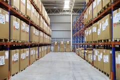 工厂仓库和raws材料箱子 免版税库存照片
