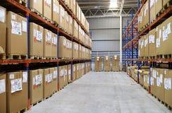 工厂仓库和raws材料箱子 库存照片