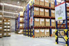 工厂仓库和raws材料箱子 免版税库存图片