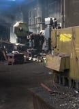 工厂内部工作区细节 免版税库存照片