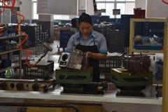 工厂劳工,重庆,中国 免版税库存图片