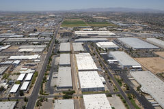 工厂厂房从上面 库存照片