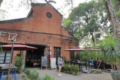 工厂厂房在redtory创造性的庭院,广州,瓷里 免版税库存照片