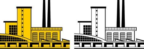 工厂图标 免版税库存照片