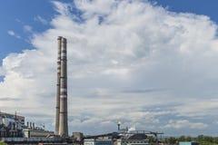 工厂处理视图的天然气产业油 天然气产业油 免版税图库摄影
