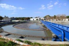 工厂废水 免版税库存照片