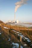 工厂横向污染 免版税库存照片