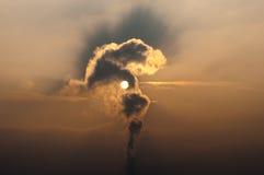 工厂污染云彩 库存图片