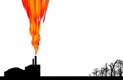 工厂污染 库存例证