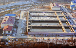 工厂污水处理 免版税库存图片