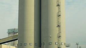 工厂油菜子的存贮塔 对菜种子的生产 影视素材