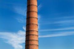 工厂烟囱的细节 免版税库存照片