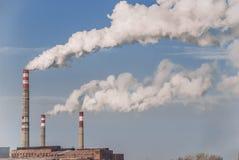 工厂烟 免版税库存图片