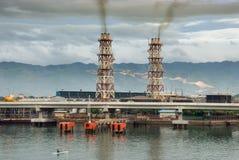 工厂热带污染的次幂 库存照片