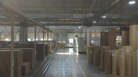 工厂生产车间设备项和产品 股票视频