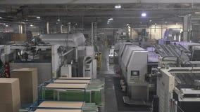 工厂生产车间设备项和产品 股票录像