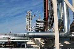 工厂石油精炼 免版税库存照片