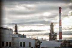 工厂管 免版税库存照片