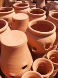 工厂罐赤土陶器 库存照片