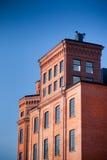 工厂罗兹老波兰 免版税库存照片