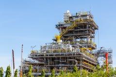 工厂设备当前建设中 免版税库存照片