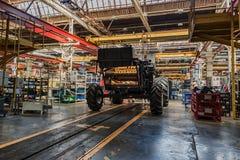 工厂设备车间内部  免版税库存照片