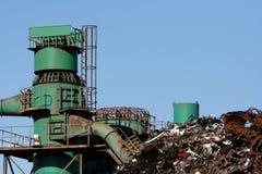 工厂金属废料 库存图片