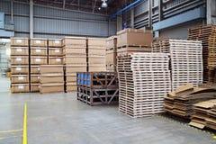 工厂仓库用途为保留材料 库存照片