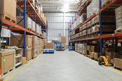 工厂仓库用途为保留物资供应给顾客 免版税库存照片