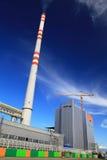 工厂Mondi在城市Ruzomberok,斯洛伐克 库存照片
