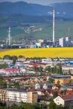工厂Mondi在镇Ruzomberok,斯洛伐克里 免版税库存图片