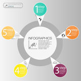 工商界infographic概念 传染媒介infographic的圈子元素 模板infographic 5安置,步 库存照片