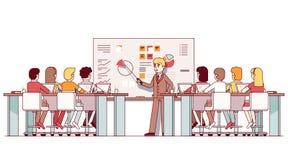 工商管理硕士作演讲的企业老师学生 库存例证