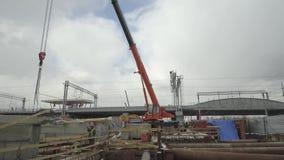 工地工作,传输基础设施对象的建筑 影视素材