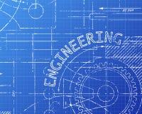 工程学图纸机器 库存照片