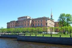 工程学城堡在圣彼得堡 库存照片