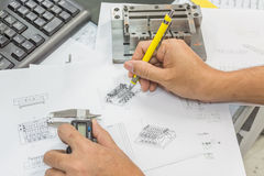工程学工具 免版税库存照片