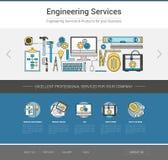 工程学网模板 库存照片