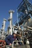 工程师可燃气体油 免版税库存照片